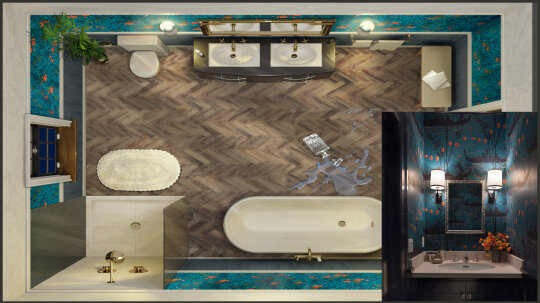 Col. Mustard and CLUE Get New Bathroom in Design Contest