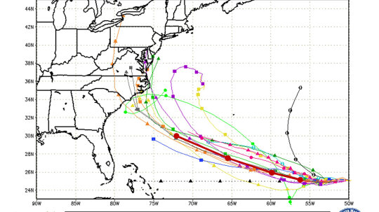 How Do Spaghetti Models Predict a Hurricane's Path?