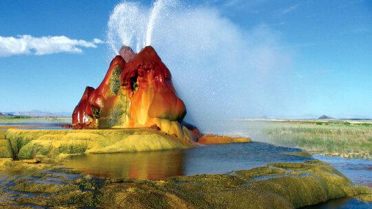 Nevada's Fly Geyser Is a Manmade Wonder