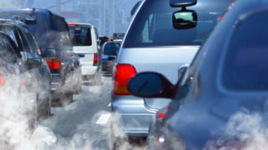 What percentage of air pollution is due to cars?