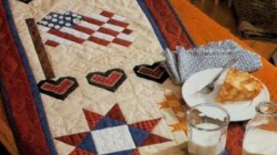 Americana Summer Quilted Table Runner Pattern