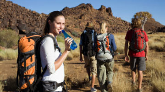 How can I take care of my skin while I'm backpacking?