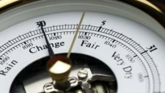 What does it mean when a barometer is rising or falling?