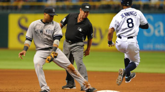When should you overrun first base?