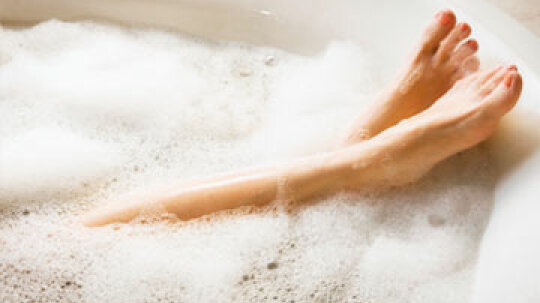How does bathing affect my skin?