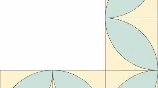 Block Leaf Quilt Border Pattern