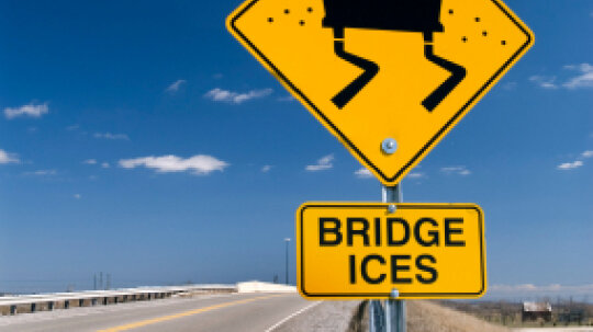 Why do bridges ice before the rest of the highway?
