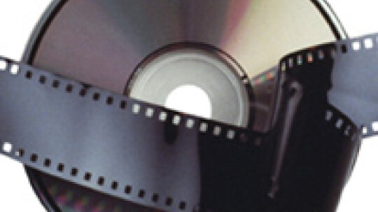 How are movies stored on DVD discs?