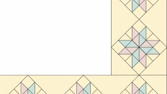 Eight-Pointed Star Quilt Border Pattern