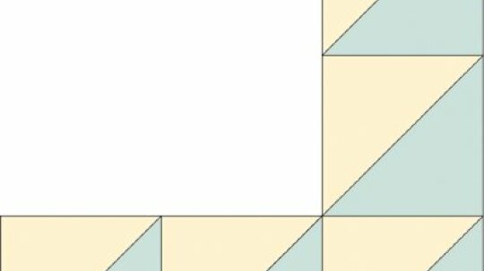 Flying Geese Quilt Border Pattern