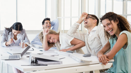 Does having fun at work make you look bad?