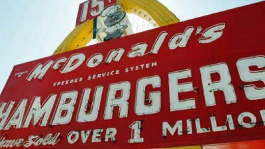 Are the Golden Arches really supposed to be giant french fries?