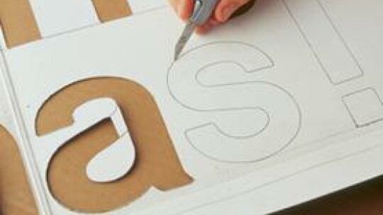 How to Make Stencils from Used Cardboard