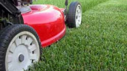 Is it more efficient to mow the yard in a spiral or up and back?