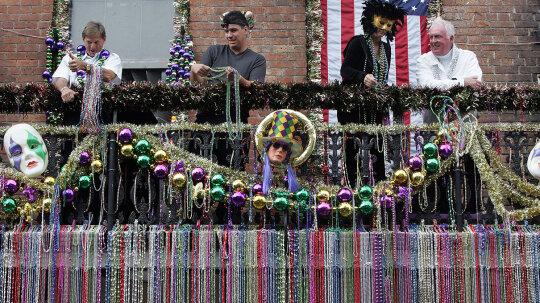 Tons of Mardi Gras Beads Clog NOLA's Storm Drains