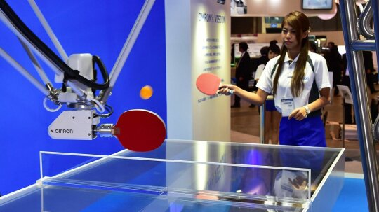 Robot Pingpong Coach Helps Players Up Their Table Tennis Game