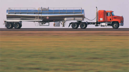 How do oil tanker trucks affect ranches?