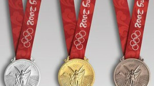 What are Olympic medals made of?