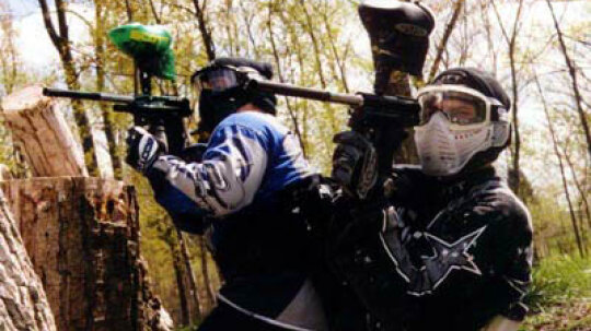 How did the game of paintball get started?