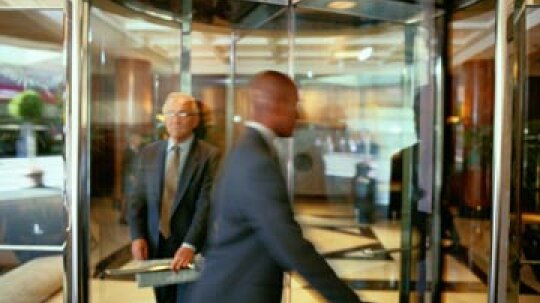 Who invented the revolving door?