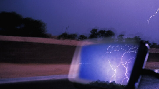 Do rubber tires insulate your car from lightning?