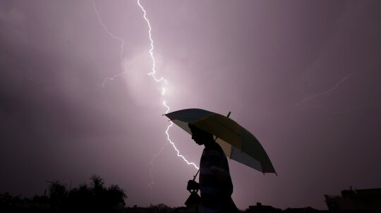 Are you safe from lightning if it's not thundering?