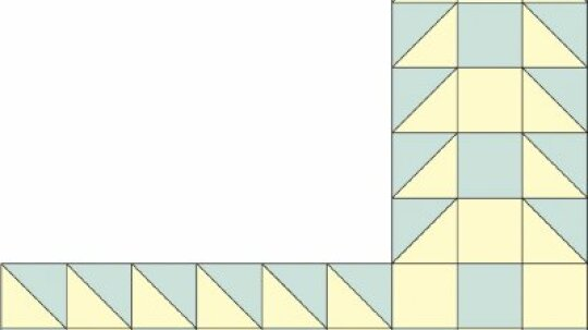 Sawtooth Square Quilt Border Pattern