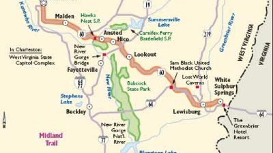 West Virginia Scenic Drives: Midland Trail