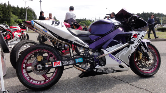 What does stretching a sportbike do?