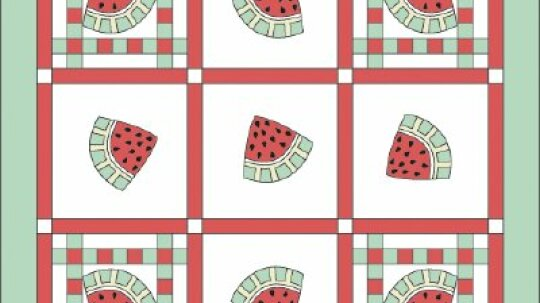 Summer Treats Quilted Tablecloth Pattern