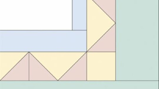 Triangles Quilt Border Pattern