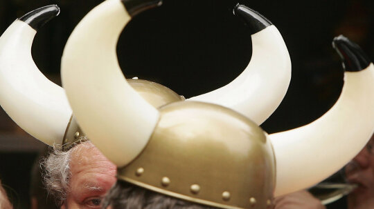 Did Vikings really have horns on their helmets?