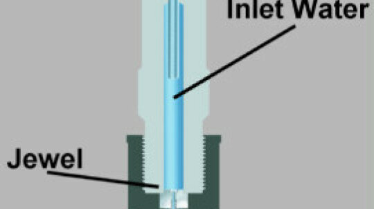 How can water cut through steel?