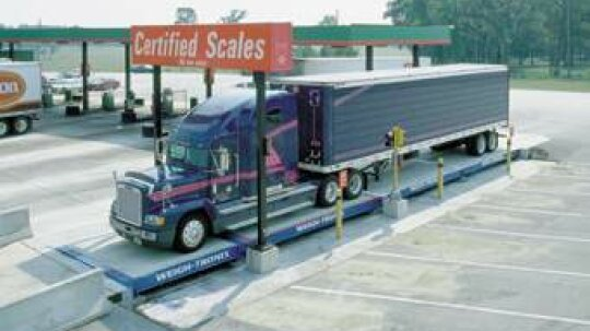 How do truck weigh stations work?