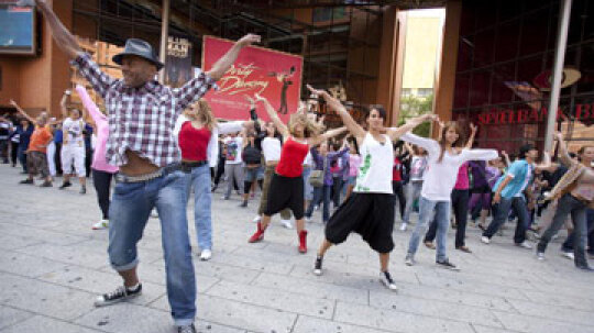 What is a flash mob?