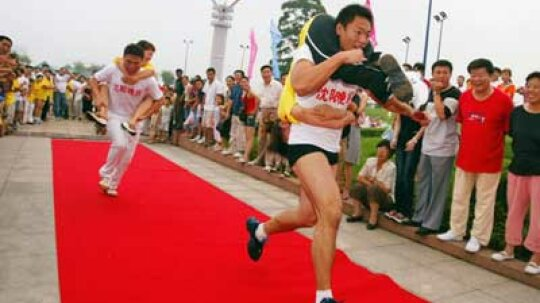 What are wife-carrying contests?
