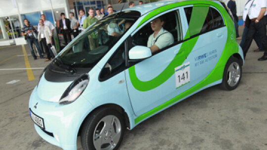 How big is the world's smallest electric car?