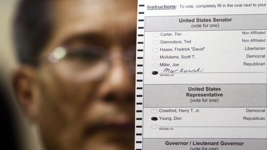 Senate Write-in Candidates Rarely Win, But It Has Happened