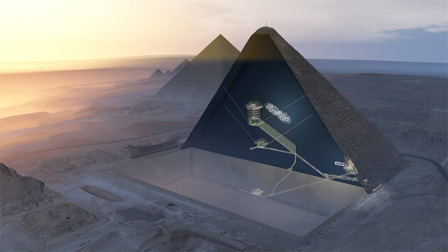 great pyramid hidden chamber visualization