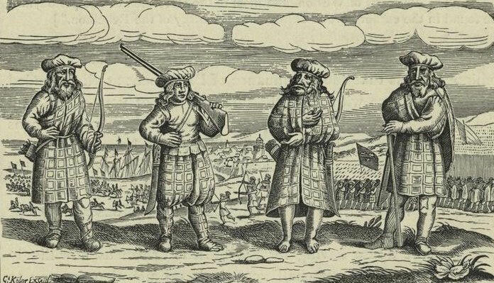 highland dress in 1600s