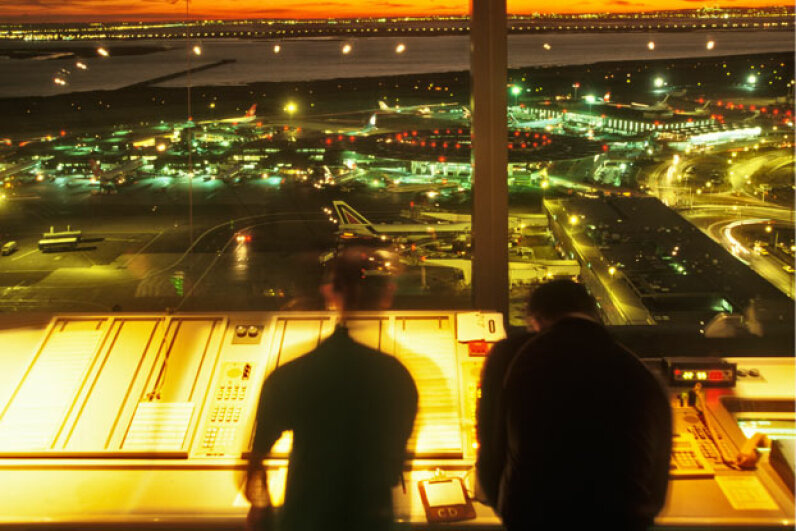 The view from an air traffic control tower. It's beautiful – and busy. © Bob Sacha/Corbis