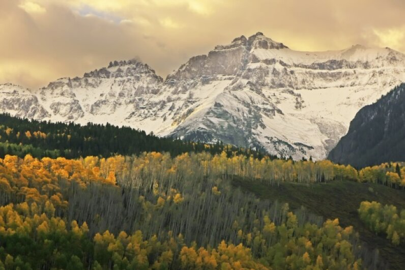The Mount Sneffels Range is just one example of the majestic mountains you'll see. Donyanedomam/iStock/Thinkstock