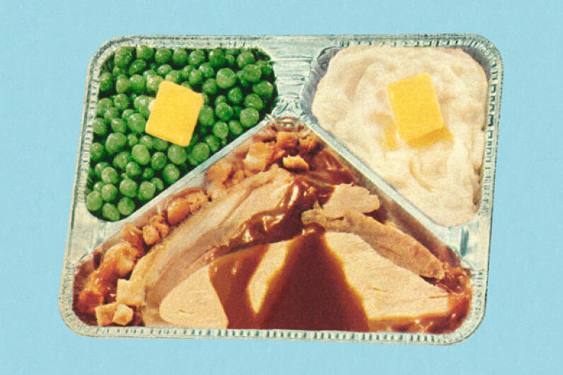 The first true blockbuster in the history of the TV dinner was a somewhat saucy turkey-and-potato affair. CSA Images/Vetta/Getty Images