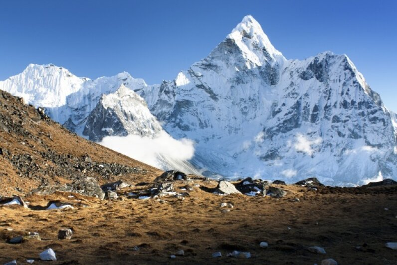 The view from the summit of Mount Everest is breathtaking in more ways than one. iStockphoto/Thinkstock