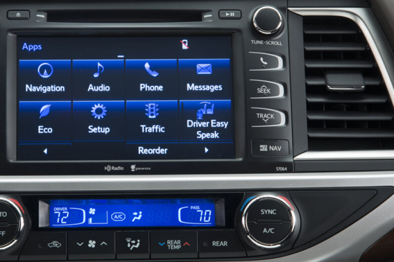 The 2014 Toyota Highlander with Easy Speak feature (Courtesy of Toyota Motor Sales, U.S.A., Inc.)