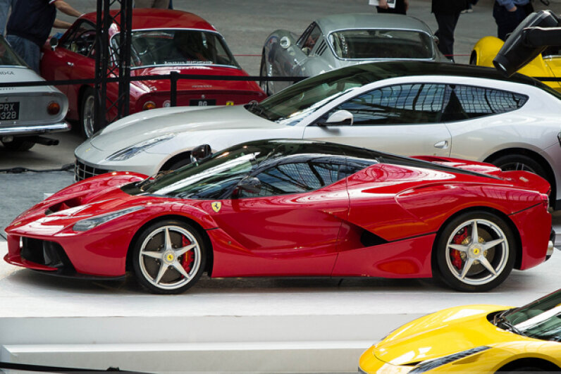 Ferrari includes iPad minis as part of the LaFerrari rear-seat entertainment system. (Creative Commons/Flickr/RomainBihore)