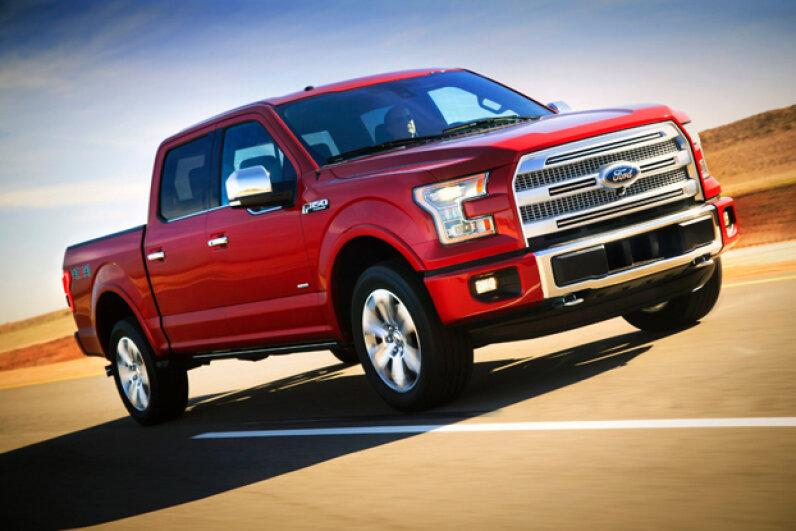 The all-new Ford F-150 features an optional 360-degree camera system. (Courtesy of Ford Motor Company)
