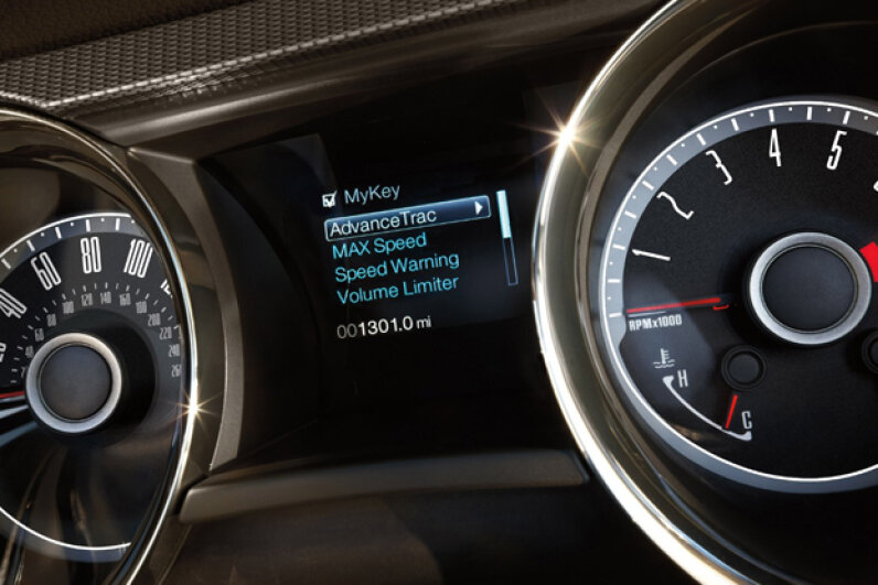 Ford's MyKey system in a 2014 Ford Mustang (Courtesy of Ford Motor Company)