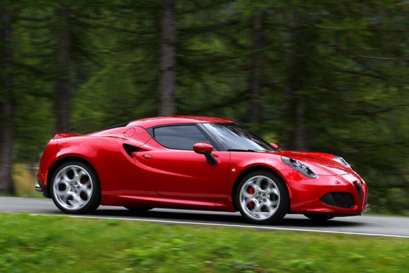 The 2014 Alfa Romeo 4C (Courtesy of Fiat Group Automobiles/Alfa Romeo)