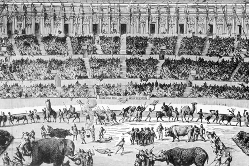 Modern audiences wouldn't have been able to handle the brutality and gore of Circus Maximus. Three Lions/Stringer